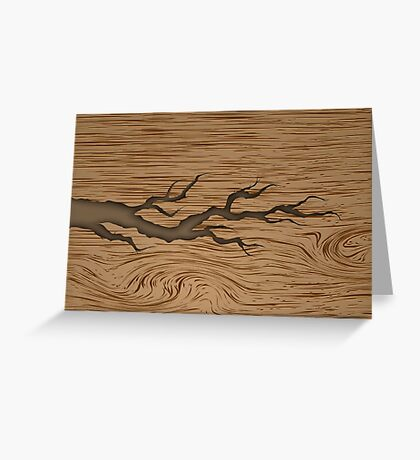 Cracked tree branch  Greeting Card