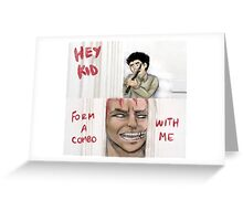 Zebra form a combo with me Greeting Card