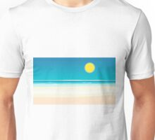 sunrise beach with sun Unisex T-Shirt