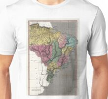 Map of Brazil - 1822 Unisex T-Shirt