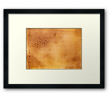 abstract texture Framed Print