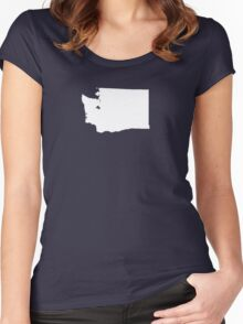 Washington Plain Women's Fitted Scoop T-Shirt