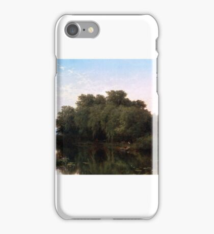 Albert Fitch Bellows ,The River Bank, iPhone Case/Skin