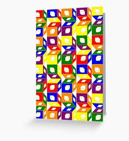 Blocks of Color Greeting Card