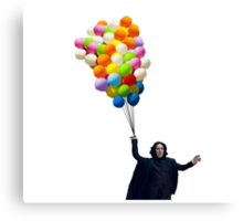 snape with balloons Canvas Print