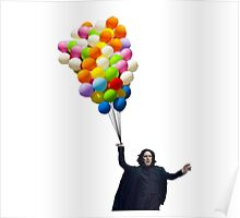 snape with balloons Poster