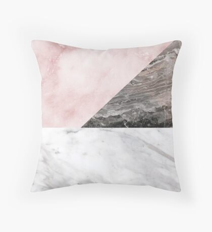Smokey marble blend Throw Pillow