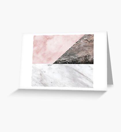Smokey marble blend Greeting Card