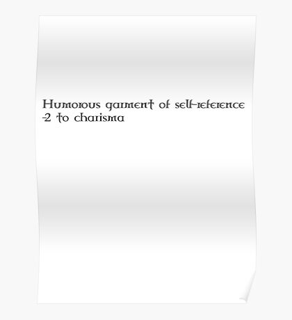 Garment of Self-Reference (black) Poster