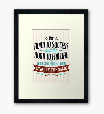 VP_M005 ROAD TO SUCCESS Framed Print