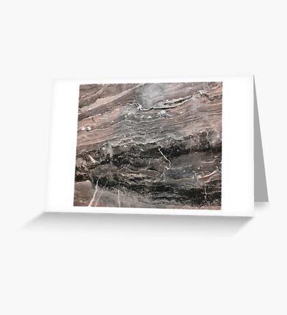 Smokey gray marble Greeting Card