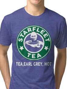 Captain Picard's Starfleet Tea Tri-blend T-Shirt