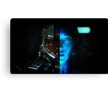 Master Chief and Cortana Canvas Print