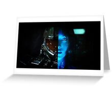 Master Chief and Cortana Greeting Card