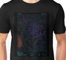USGS TOPO Map California CA West of Snowstorm Mtn 102446 1989 24000 geo Inverted Unisex T-Shirt