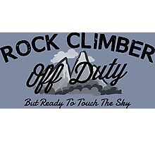 Rock Climber Off Duty Photographic Print