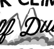 Rock Climber Off Duty Sticker