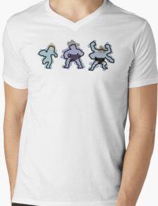Machop trio Mens V-Neck T-Shirt
