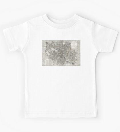 Map of Paris, France - 1823 Kids Tee