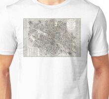 Map of Paris, France - 1823 Unisex T-Shirt