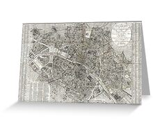 Map of Paris, France - 1823 Greeting Card