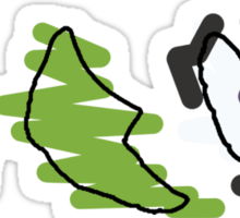 Caterpie, Metapod, Butterfree Trio Sticker