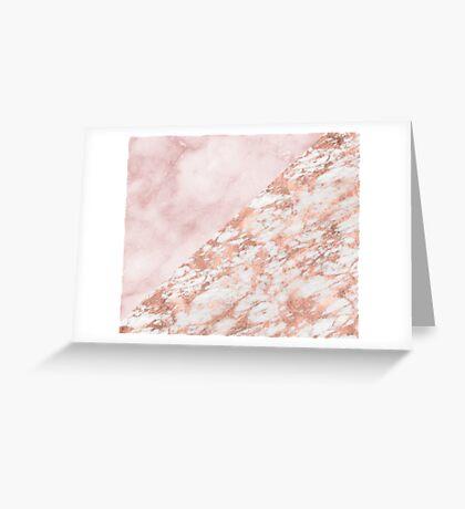 Rose gold & pinks marble Greeting Card