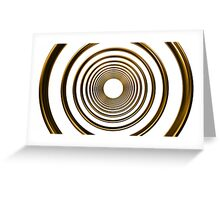 abstract futuristic circle gold pattern Greeting Card