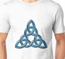 Bee Blue Celtic Triskel Unisex T-Shirt