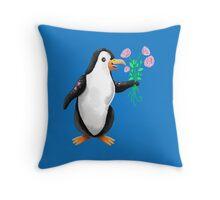 Penguin valentine  Throw Pillow