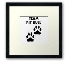 Team Pit Bull Framed Print