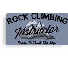 Rock Climbing Instructor Canvas Print