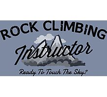 Rock Climbing Instructor Photographic Print