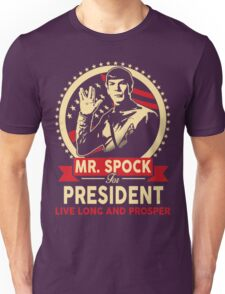 Spock for President Unisex T-Shirt