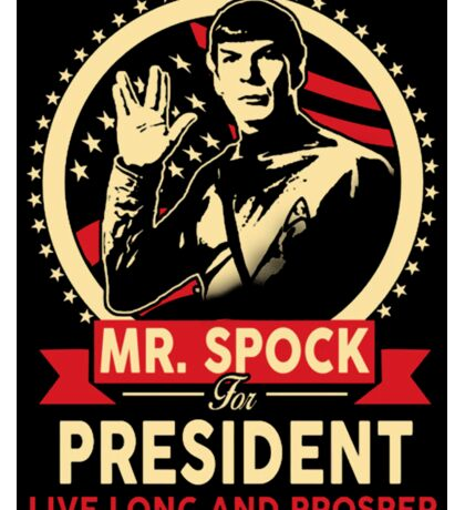 Spock for President Sticker