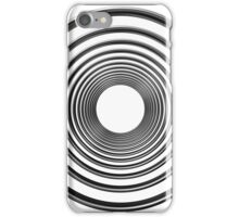 abstract futuristic circle pattern iPhone Case/Skin