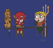 The flash and aquaman by Tevin Henley