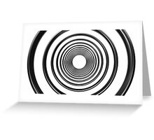 abstract futuristic circle pattern Greeting Card