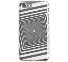 abstract futuristic square corridor iPhone Case/Skin