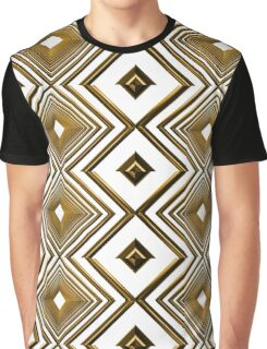 abstract futuristic square gold pattern Graphic T-Shirt