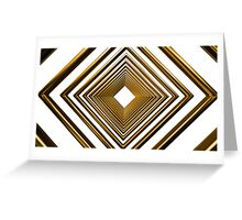 abstract futuristic square gold pattern Greeting Card