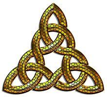 Bee Gold Celtic Triskel by Bluesax