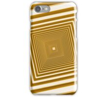 abstract futuristic square yellow corridor iPhone Case/Skin