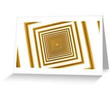 abstract futuristic square yellow corridor Greeting Card