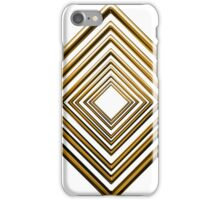 abstract rhombus gold pattern iPhone Case/Skin