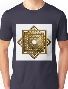 abstract square gold pattern Unisex T-Shirt