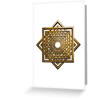 abstract square gold pattern Greeting Card