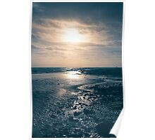 Reflections On Winter Beach Poster