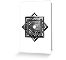 abstract square pattern Greeting Card