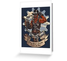 Inevitable Steampunk Version Greeting Card